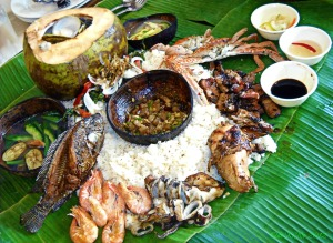 Blackbeard's Seafood Island Mt. Apo boodle fight