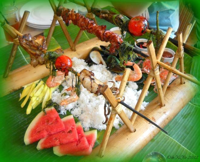 Baguio Blackbeard's Seafood Island Tali Beach boodle fight