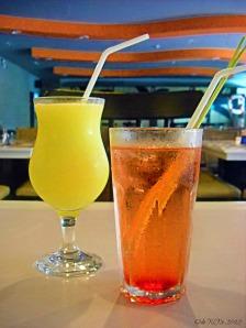 Blackbeard's Seafood Island fancy drinks