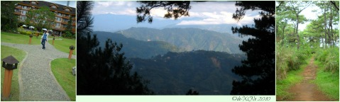 The Manor Garden, the view of the Cordillera Mountain Range, and a section of the EcoTrail