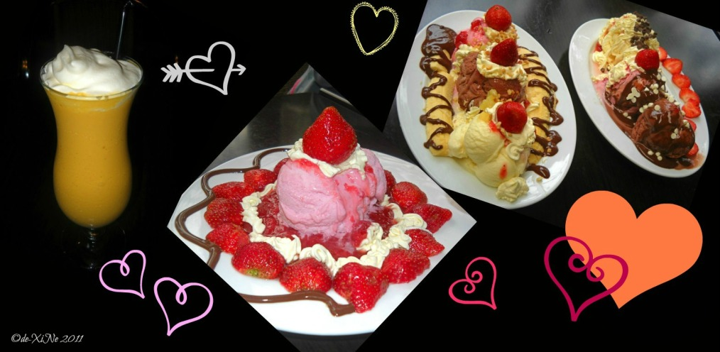 Strawberries and Ice Cream ice cream creations