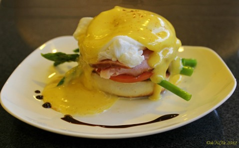"Dinelli's Gourmet, Eggs Benedict ... The Beautiful One ("",)"