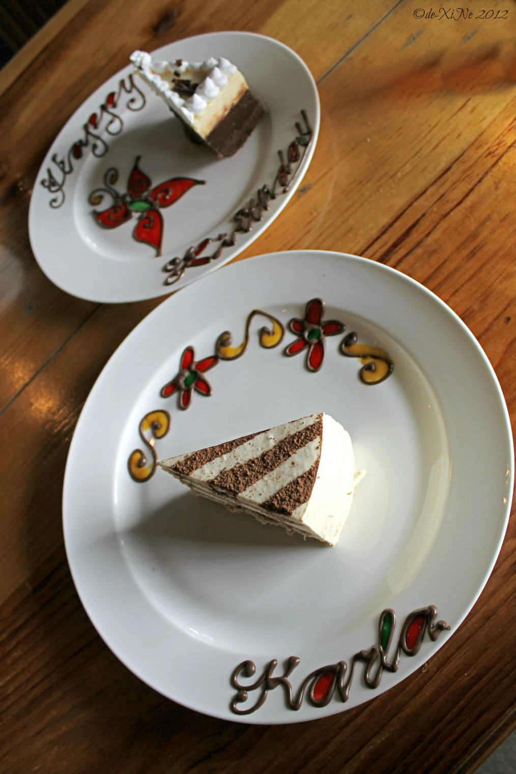 Forest House cakes and plate art