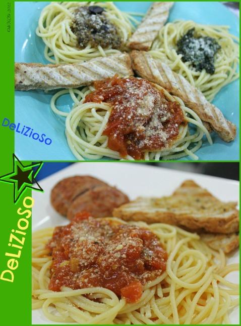 Cucinino triple treat and pasta pomodoro
