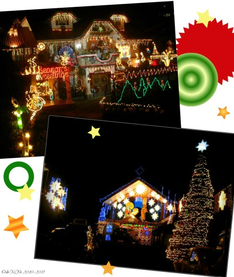 "Baguio Houses with Overflowing Xmas Spirit ("",)"