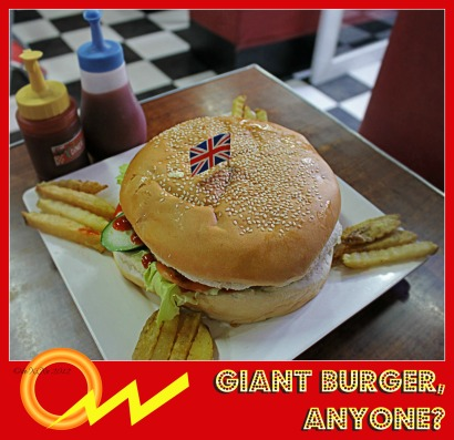 Jim's Retro Diner giant burger
