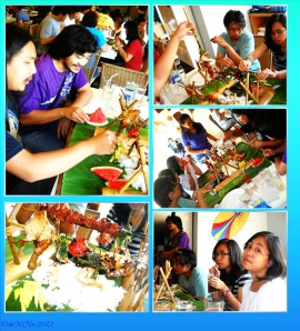 Blackbeard's Seafood Island, pillaged and plundered boodle fight spread