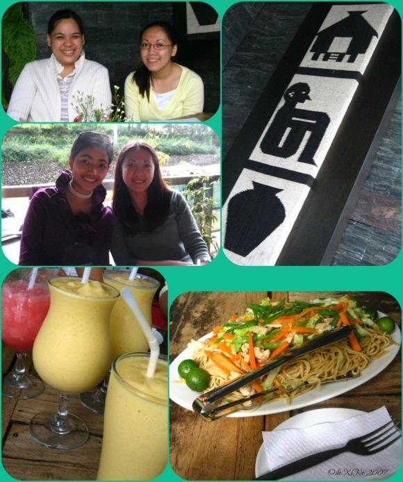 Cafe Sorelle pancit, fruit shakes and us