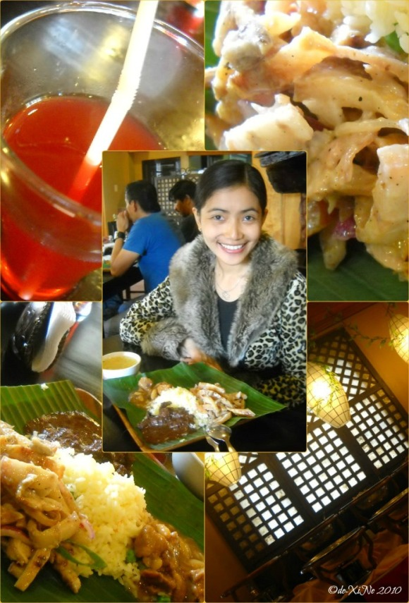 Kamayan scene, food and me