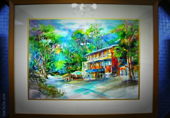 Painting of Iggy's Inn and Bonuan Seafood Restaurant