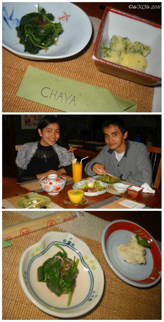 Chaya Restaurant appetizers