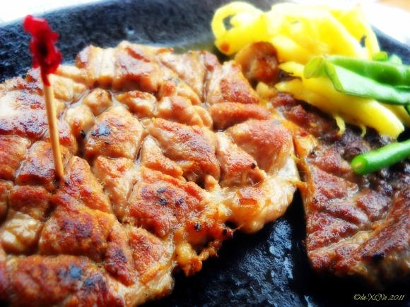Sizzling Plate Australian rib eye steak