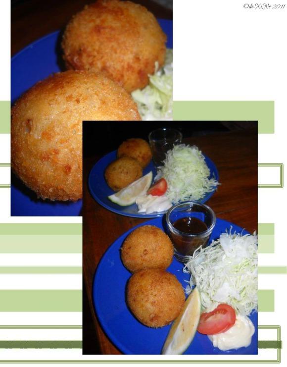 Chaya potato croquettes