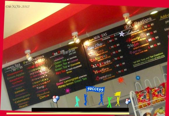 ZenTea menu