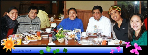 Family Breakfast at Baguio Country Club