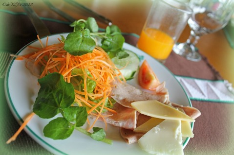 Baguio Country Club salad, cheese and cold cuts