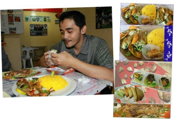 Amirah's shawarma platter, sambosa (chicken), shawarma, aloosh sandwich, kofta kebab rice and my brother
