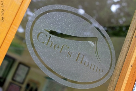 Baguio Chef's Home Asian Fusion Cuisine 2012 door sign