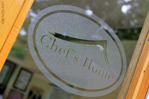 Baguio Chef's Home Asian Fusion Cuisine 2012 door sign