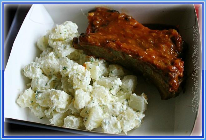 Baguio Blue Tent ribs and potato salad 2016