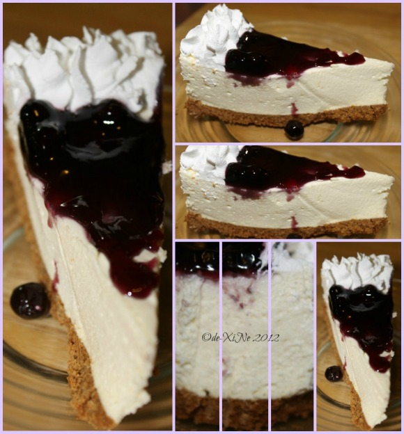 Azotea Greens blueberry cheesecake