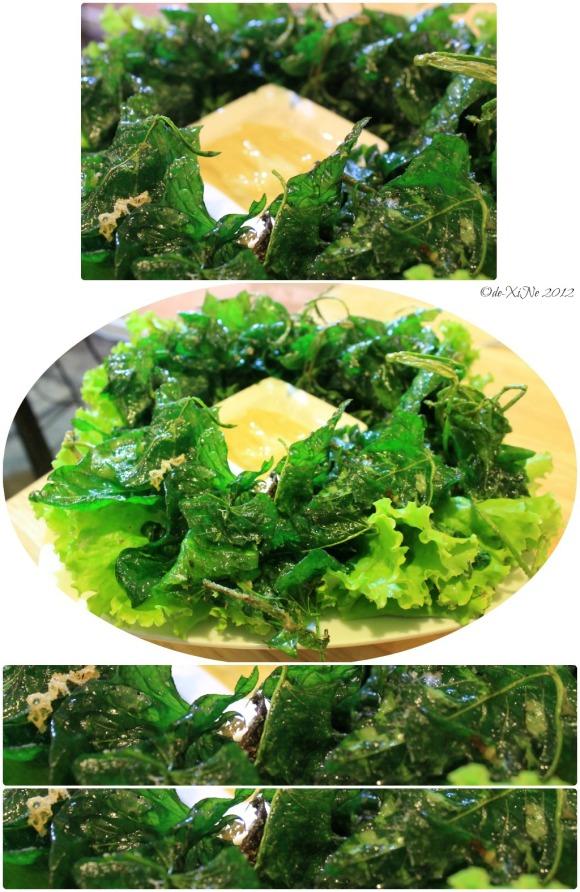 Azotea Greens crispy kangkong in tofu mango sauce