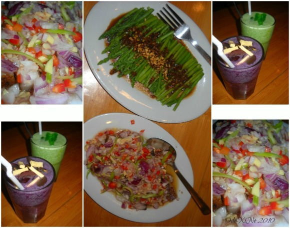 Dencio's Bar and Grill (Luneta Hill) asparagus in garlic, sinuglaw, caligrape coolers