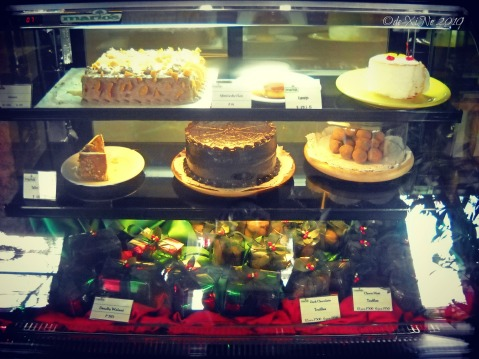 Mario's Restaurant dessert display