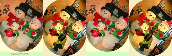 Baden Powell Inn snowman family decor