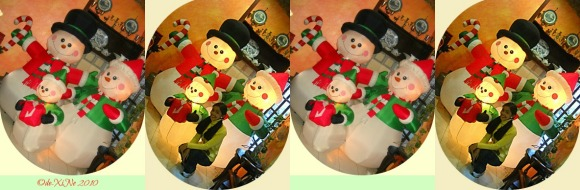 Baden Powell Inn snowman family decor