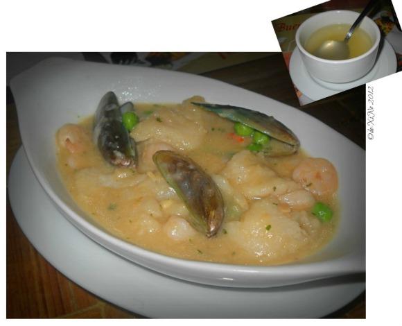 Dulcinea pescado con sarsa verde