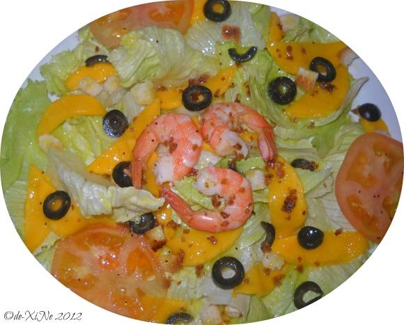 Dulcinea mango shrimp salad