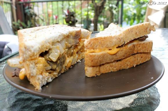 Kape Umali Philadelphia cheese beefsteak sandwich