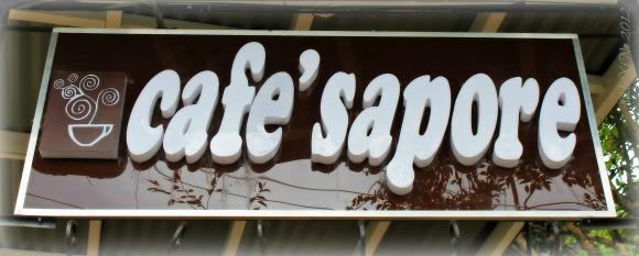 Cafe Sapore sign