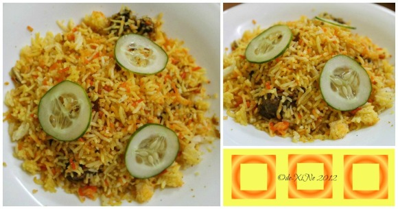 Ali's House of Shawarma kebab with biryani rice