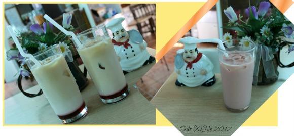 Barn Cafe raspberry milk tea
