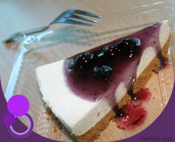Barn Cafe blueberry cheesecake