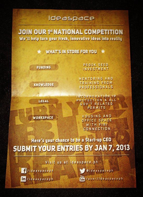 IdeaSpace national competition flyer
