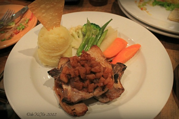 Forest House Bistro and Cafe twin pork chops with apple sauce