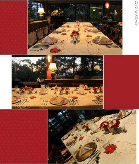 the dining table at Mama's Table