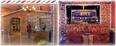 Le Chef Delicatessen as a gingerbread house for the holidays
