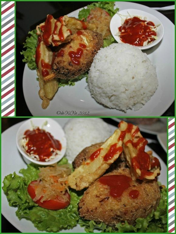 Azotea Greens drumsticks rice meal