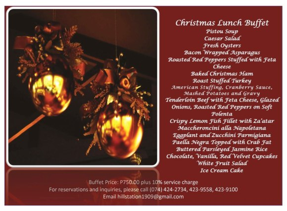 Hill Station Christmas Lunch Buffet 2012