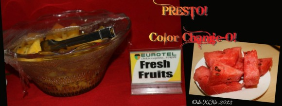 Eurotel breakfast fruit