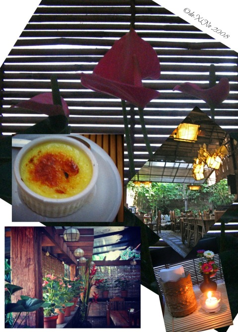 Cafe by the Ruins scene circa 2008 and their creme brulee