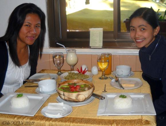 Beth and Xine in Zenz Restaurant