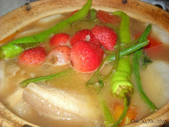 Zenz Restaurant sinigang na baboy sa strawberry