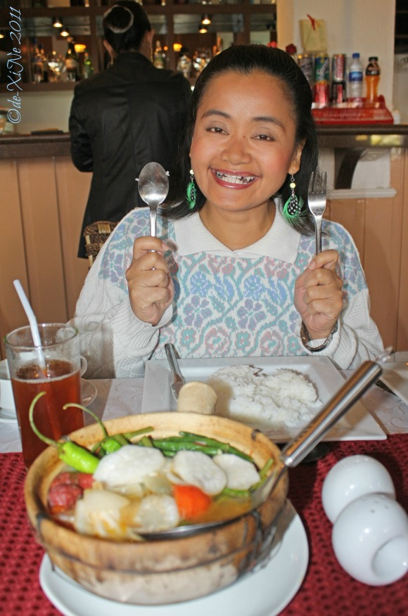 My sister at Zenz Restaurant