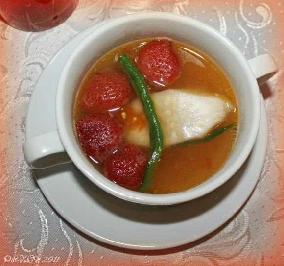 Zenz Restaurant bowl of strawberry sinigang