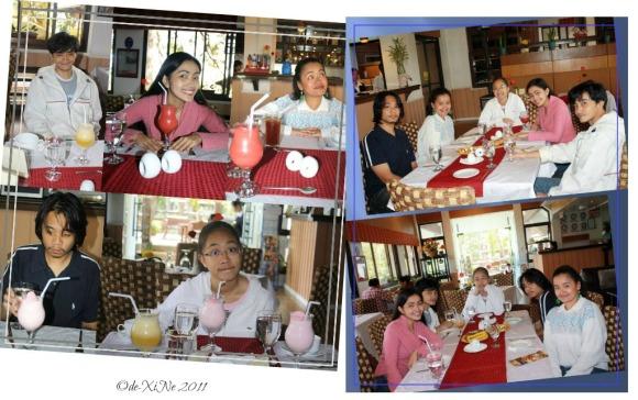 dining at Zenz Restaurant